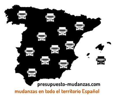 Mudanzas en todo el territorio Español
